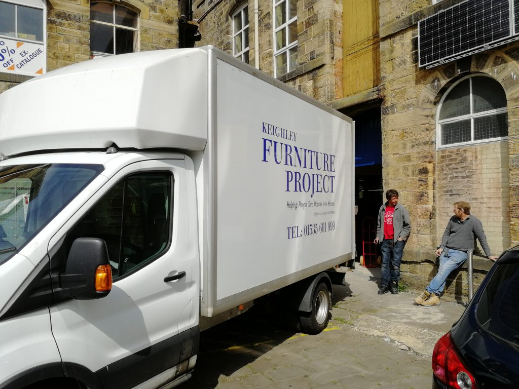 Furniture Collections for Donations big van