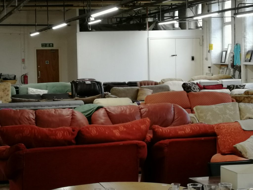 Sofa's and Chairs in our stockroom